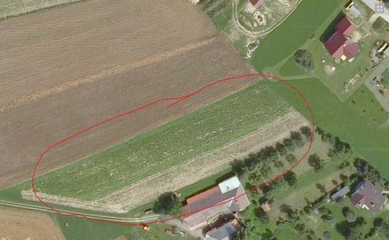 Prodej pozemků v obci Křídla, Nové Město na Moravě