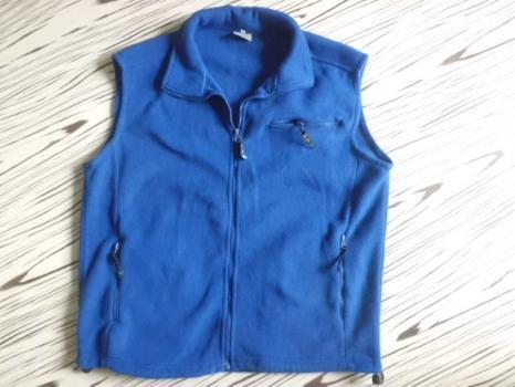 FEI YANG flecc modrá vesta pánská/dámská L-XL