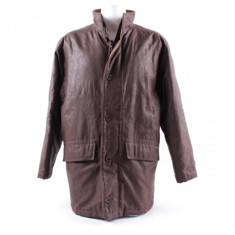 Pánský kabát hnědý