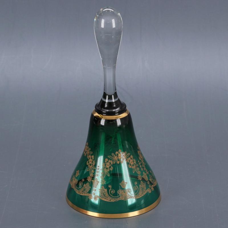 Skleněný zvonek s dekorem