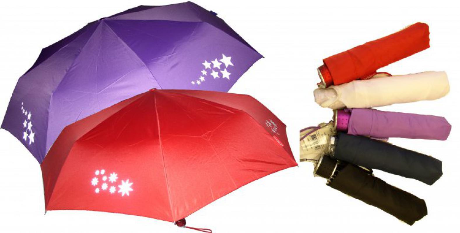 Deštník s reflexníni prvky - hvězdný roj 2