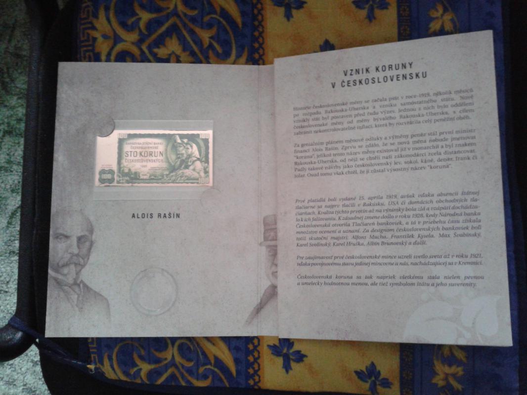 Měděná replika bankovky 100 Kčs 1961