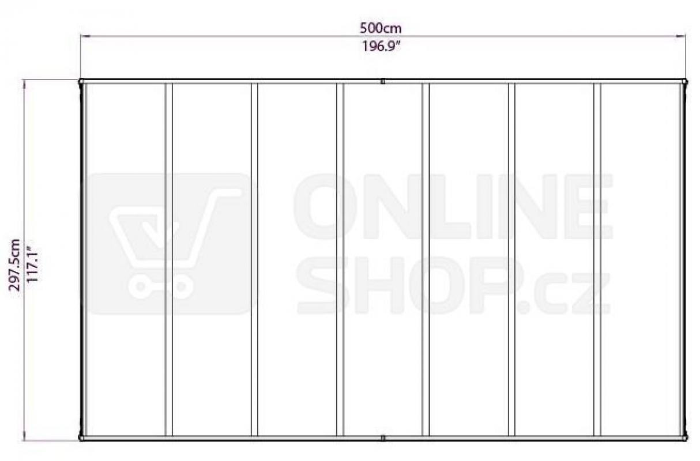 Přístřešek pro auto Palram Verona 5000 - nový