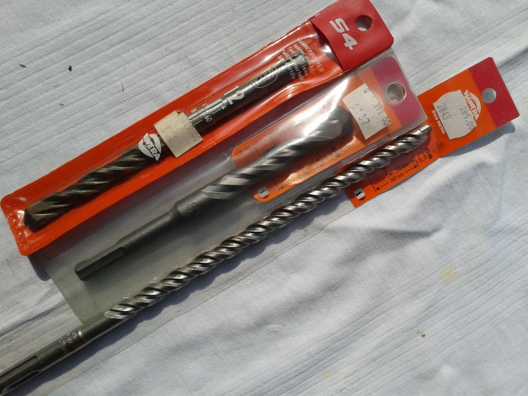 vidiové vrtáky průměr 10mm, 12mm, 16mm a 3x 6mm