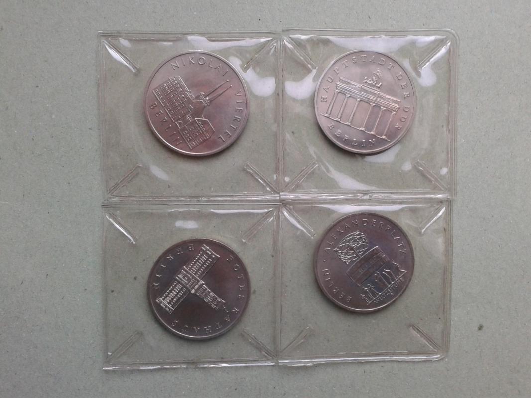 sada čtyř mincí k 750. výročí Berlína