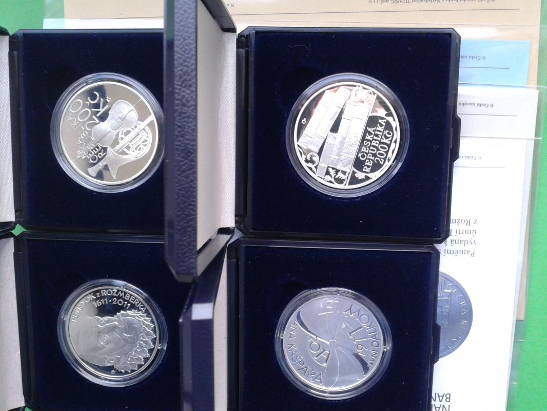 stříbrné mince 200 Kč rok 2011 PROOF